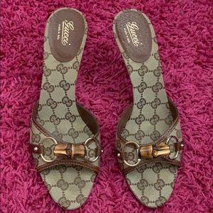 💯 Authentic Gucci Monogram Heels